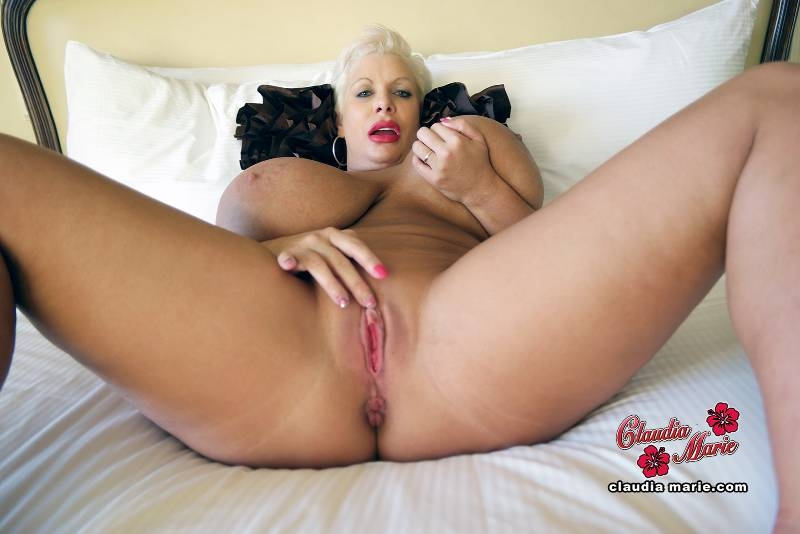 Pretty Blonde Claudia Macc Toys Her Pee Soaked Pussy